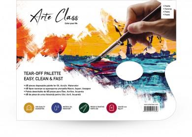 Палитра за рисуване от 40 листа - многократна употреба без почистване -  акрилни, маслени и акварелни бои